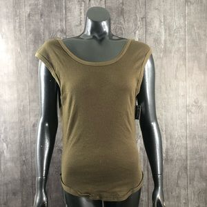 Intimately Free People Large Moss Olive Ribbed Top